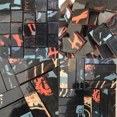 NEW! Black UNSCORED handmade strips x 5 (new quantity)