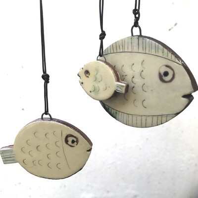 Set of three hanging fish