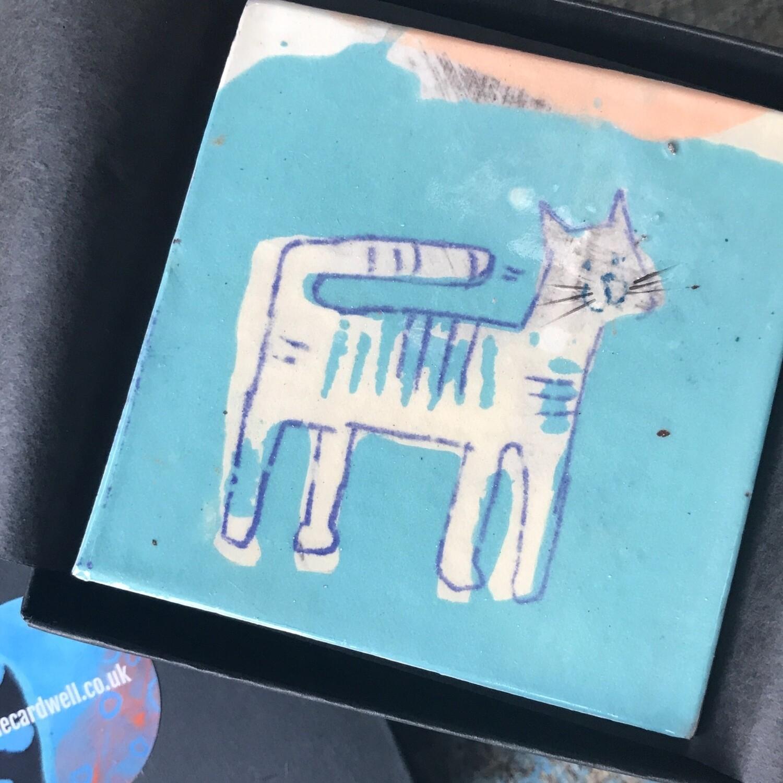 Painted cat tiles.... last few