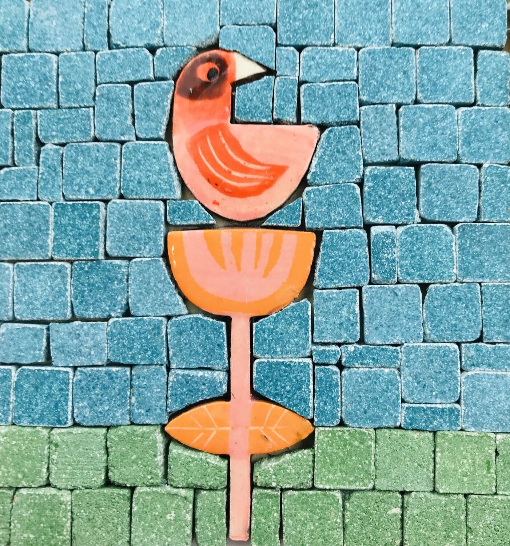 Mini mosaic kit - bird flower (1 or 2 designs)