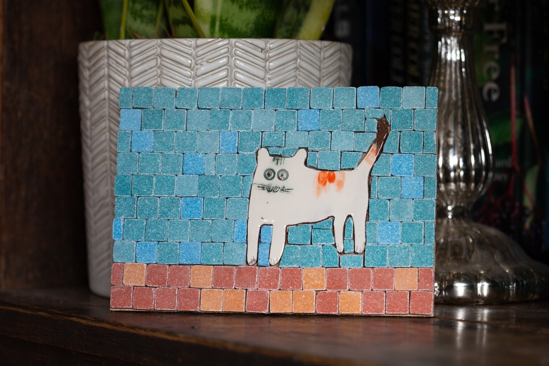 Mini mosaic kit - curious cat  - NEW!