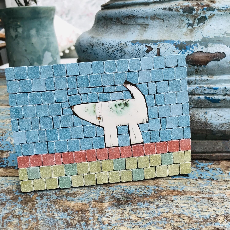 Mini mosaic kit - Wiry Willa the dog - NEW