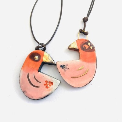 Wee birds for hanging, singles or doubles