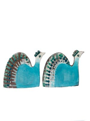 Pair of peacocks