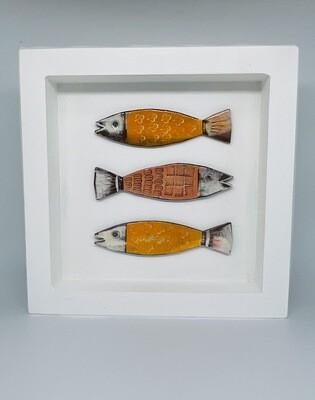 Framed fun fish - orange