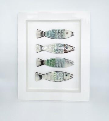 Framed fun fish blue