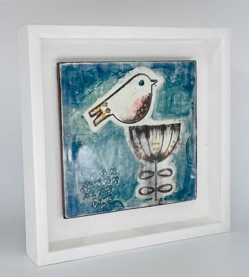 Framed Bird and flower
