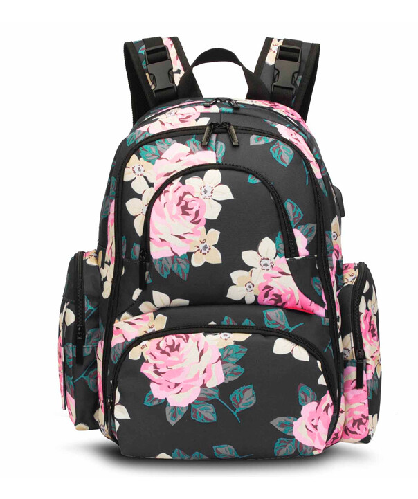 Rose Back Pack Baby Bag - Cotton Collective