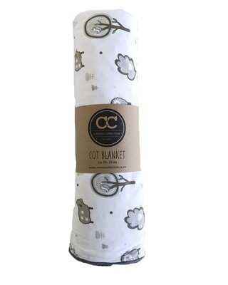 Little Sheep Design Baby Cot Blanket