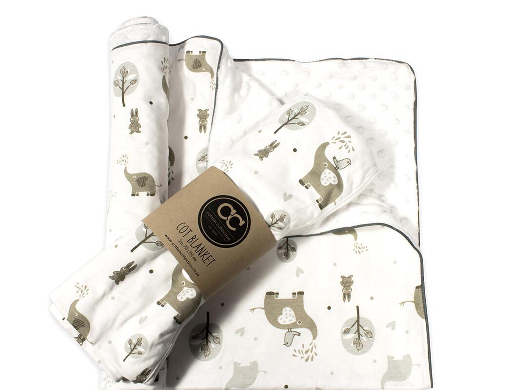 Ellie and Friends Design Baby Cot Blanket