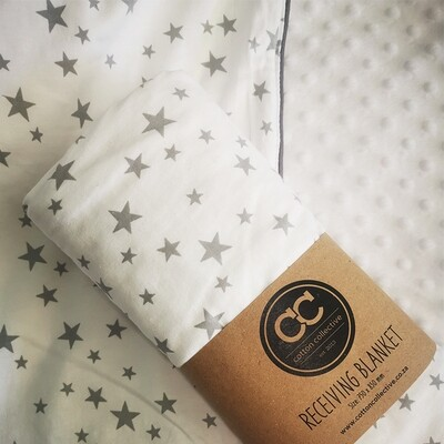 Star baby blanket - minky fleece back