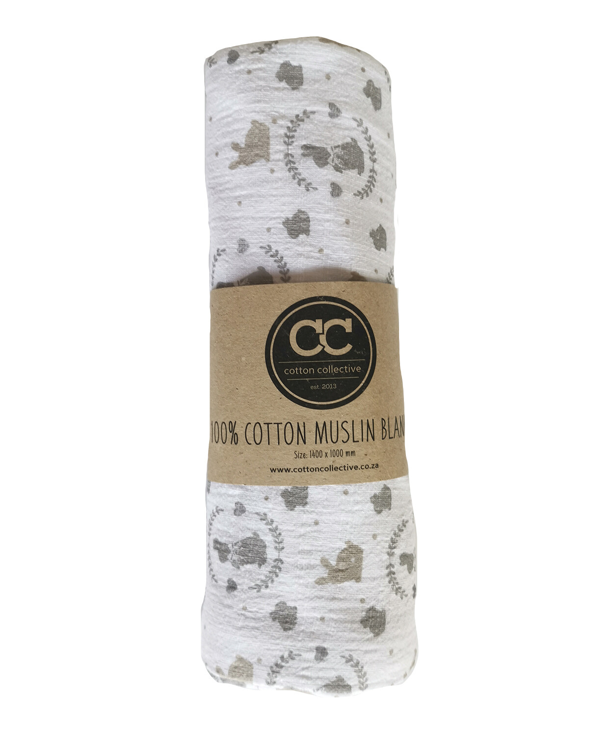 Muslin swaddle baby blankets - bunny - 100% cotton