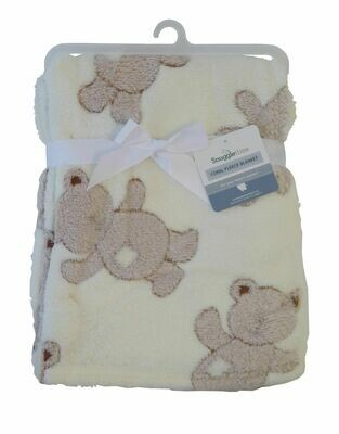 Baby Blanket Coral Fleece - Teddy
