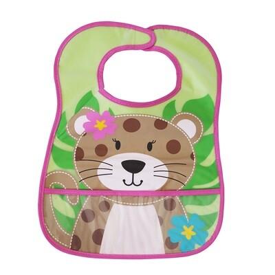 Loveable Friends Stay-dry Bib - Leopard