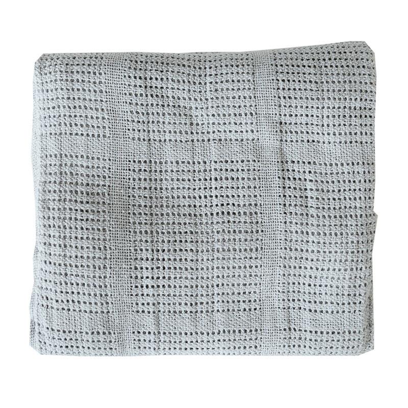 Pram Cellular Blanket - Grey