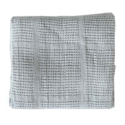 Pram Cellular Blanket - Grey