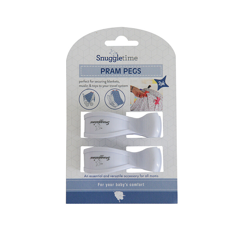 Pram Pegs - Set of 2 White