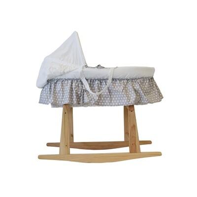 Snuggletime Moses Basket & Linen Set - grey