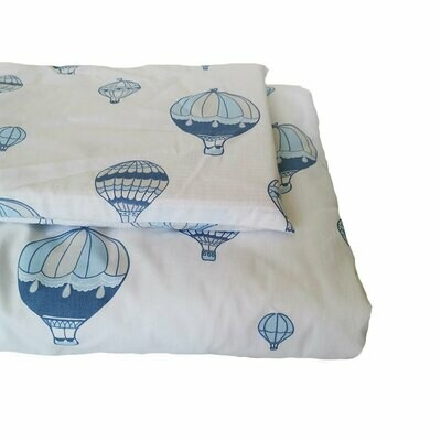 Cot Duvet Cover Set 4 Piece - Hot Air Balloon