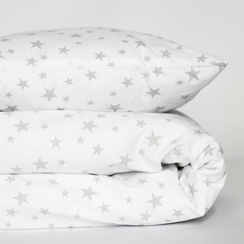 Cot duvet cover 6 piece set - star design