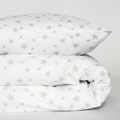 Cot duvet cover 6 piece set - star design