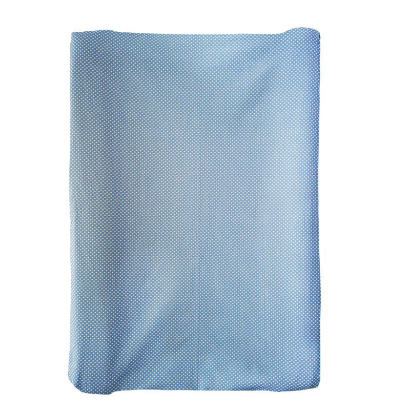 Changing Mat Cover Set Blue and White Polka