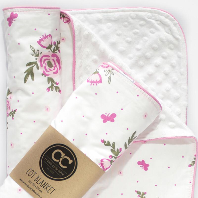 Receiving Blanket - Blooms and Butterflies