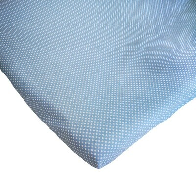 Changing Mat Cover - Blue & White Polka