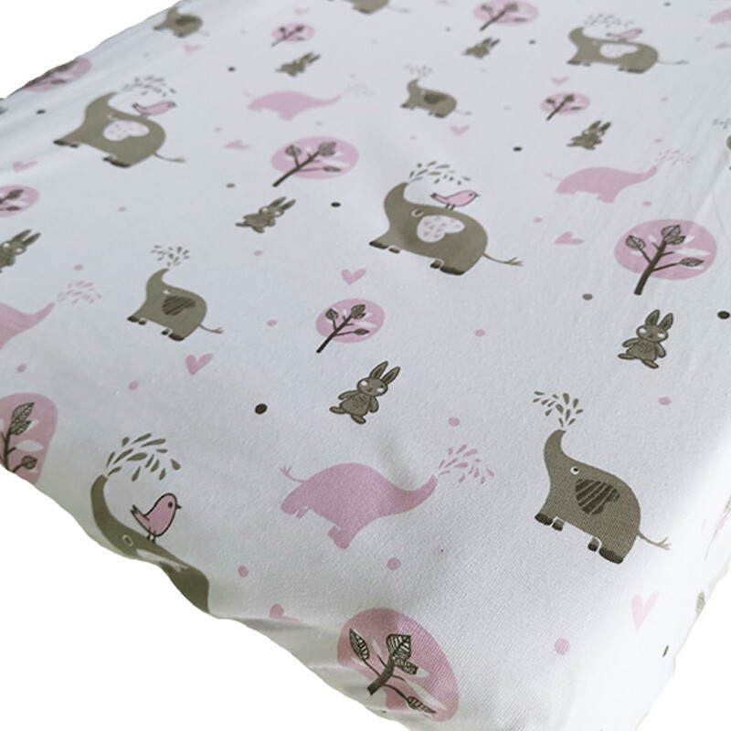Changing Mat Cover – Pink Ellie