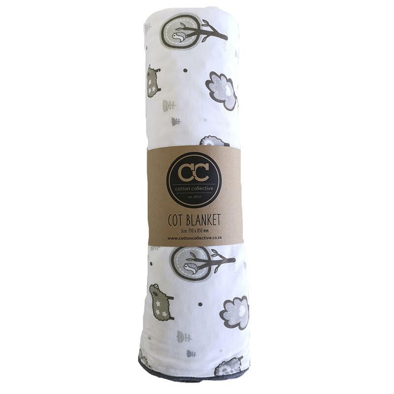 Little Sheep Design Baby Cot Blanket