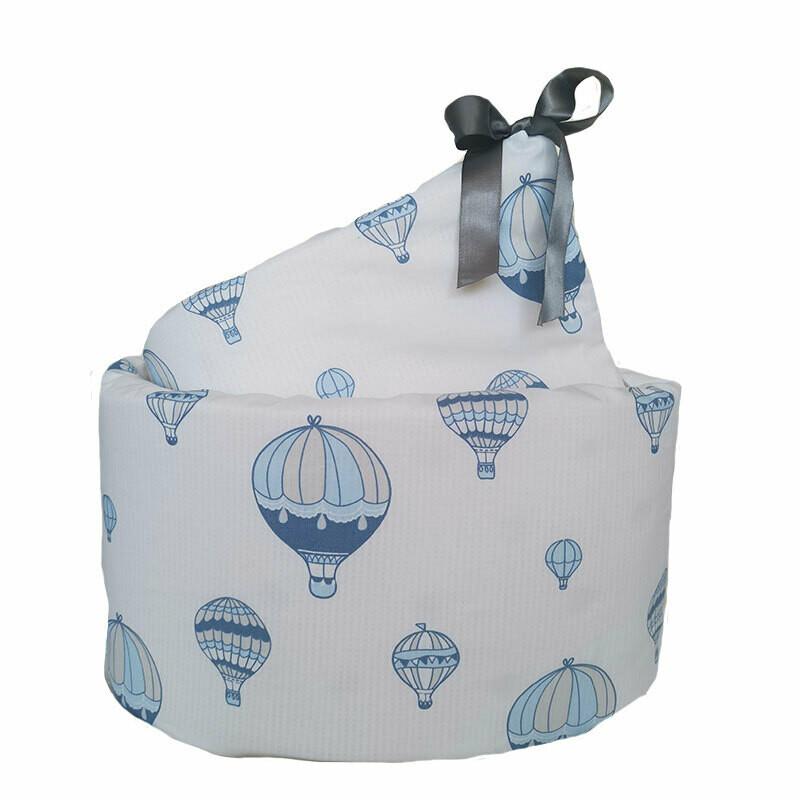 Cot Bumper Cover - Hot Air Balloon