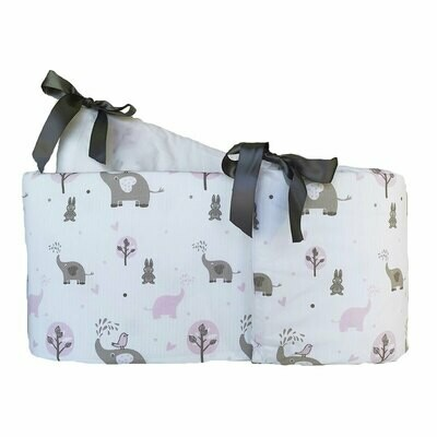 Cot bumper cover - Ellie & Friends Pink design