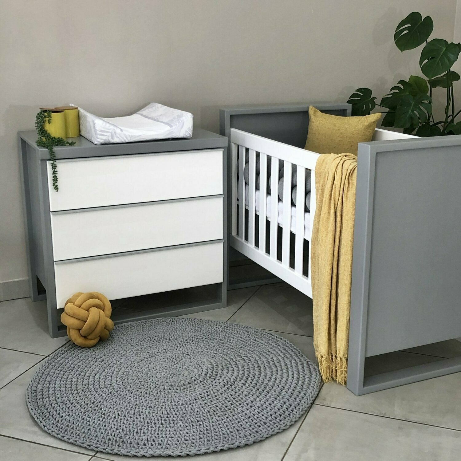 Bella Cot & Small Bella Compactum - 3 Drawers