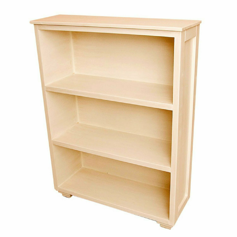 Low Bookshelf with 3 Shelves