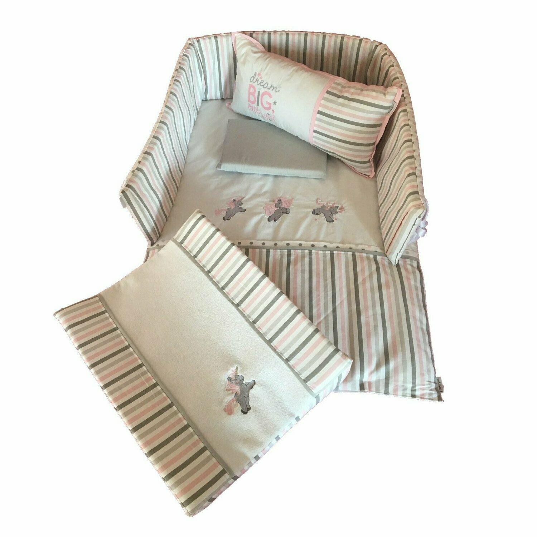 Unicorn Linen Set - Grey & Dusty Pink