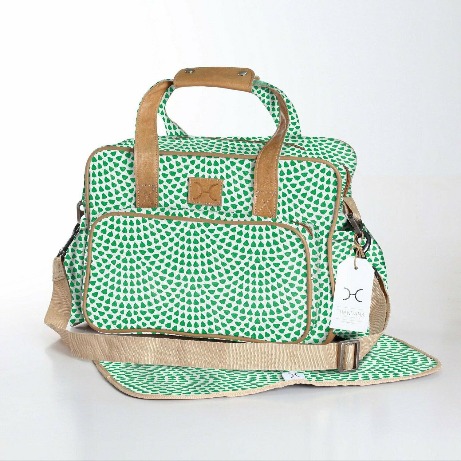 Scale Away Emerald - Laminated Nappy Bag