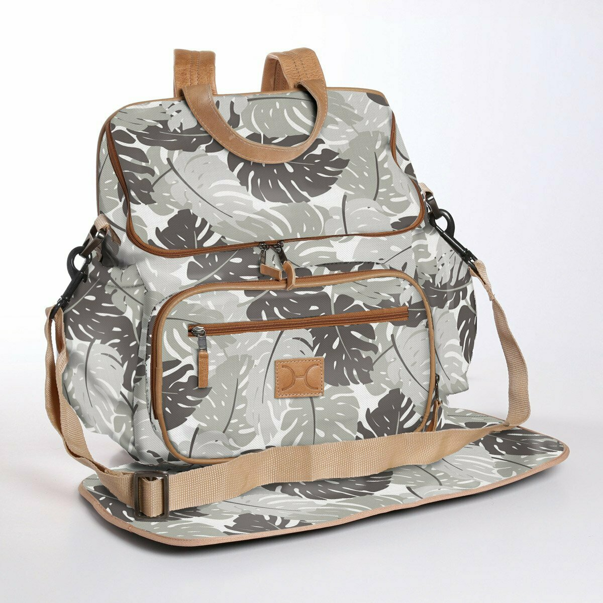 Leafing Around Rabbit - Wax Coated Nappy Backpack