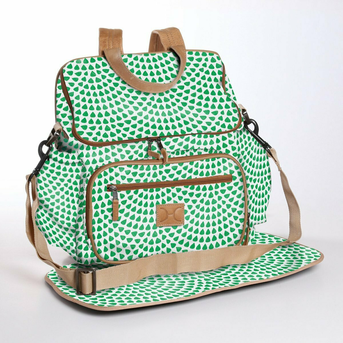 Scale Away Emerald - Laminated Nappy Backpack