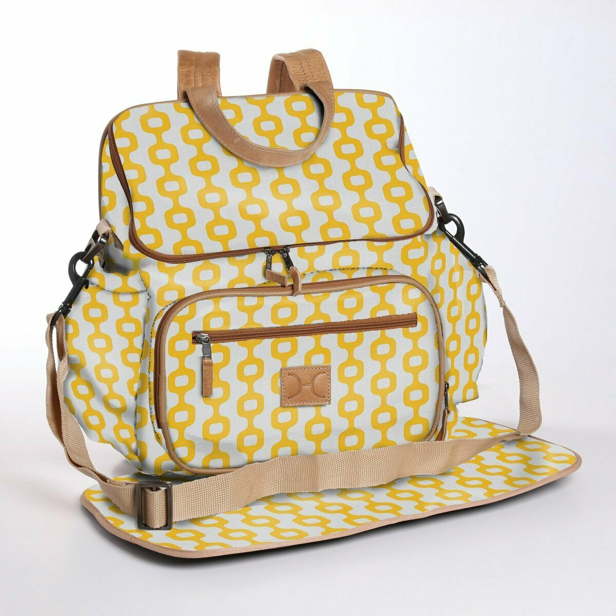 Chain Reaction Daffodil - Laminated Nappy Backpack