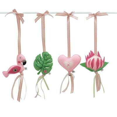 Fanciful Flamingo Swing Set