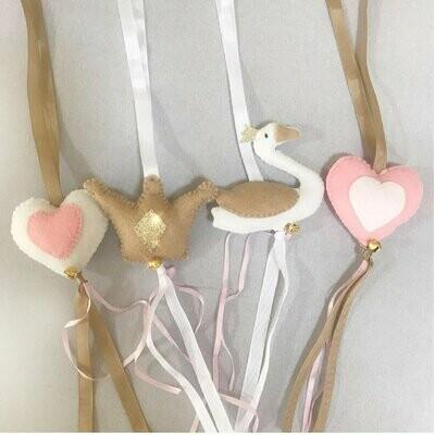 Swan Swing Set - Blush & Stone