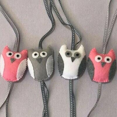 Owl Swing Set - Pink, Grey & White