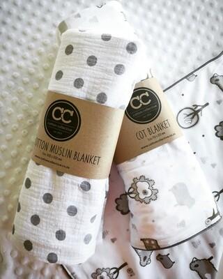 Baby Blanket Muslin & Receiver Combo