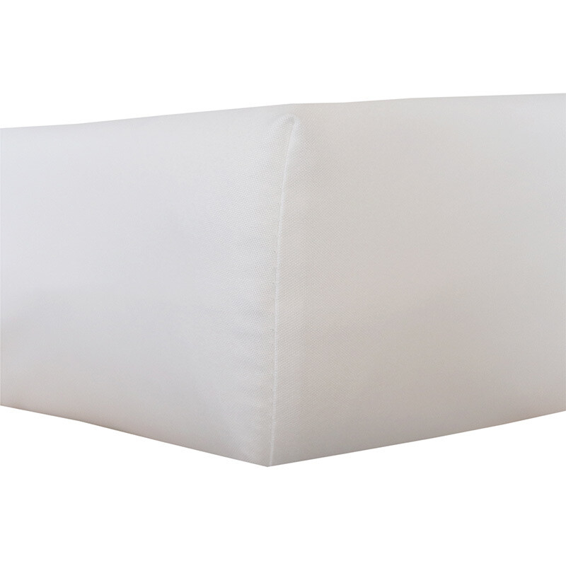 Fitted sheet cot - White