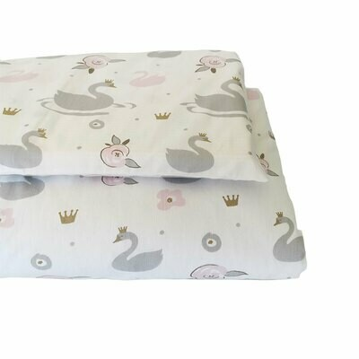 Cot Duvet Cover Set – Swan