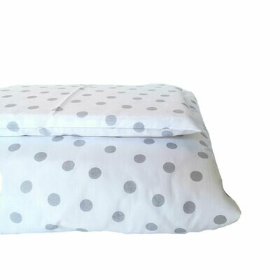 Cot Duvet Cover Set – Grey Polka