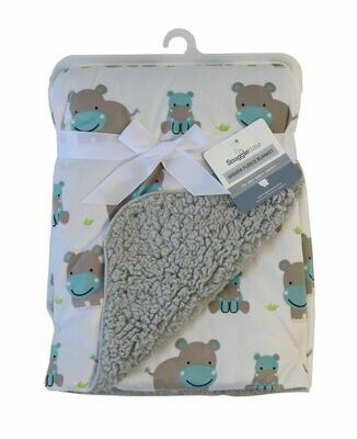Sherpa Fleece Blanket – Hippo