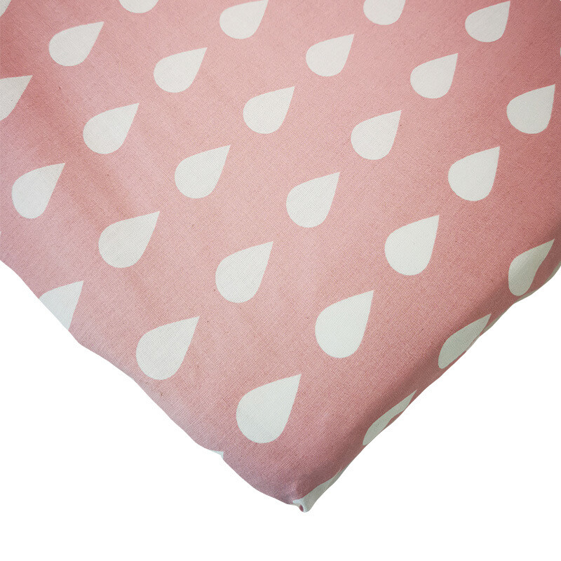 Changing Mat Cover - Teardrop Dusty Pink
