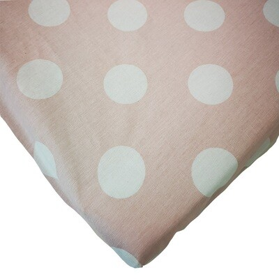 Changing Mat Cover - Big Polka Blush Pink