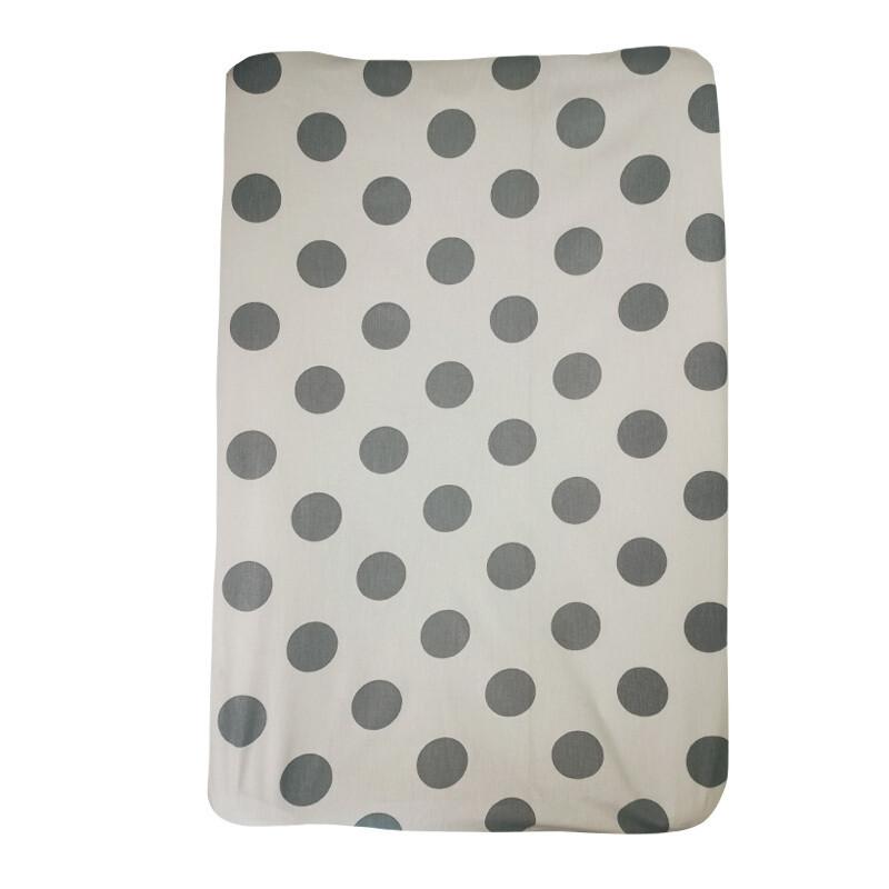 Changing Mat Cover - Big Polka Blush Grey